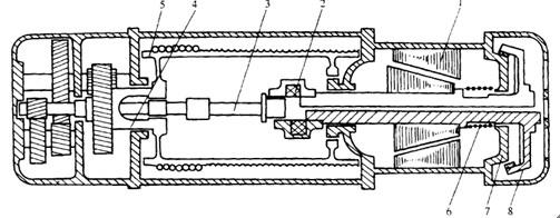 钢丝绳电动葫芦我们都知道主要有两种型号,一种是CD型的,一种是MD型的,这篇文章我们主要介绍CD型钢丝绳电动葫芦的工作原理,下面我们用图片为您做阐释:   图中电动机转子的上半部分、下半部分位置不同,分别表示不通电、通电时的情况。制动轮8的位置在电动机的右侧,通电电机转子右移,制动器打开。它的传动路线为电动机,联轴器,三级齿轮减速器输人轴3,减速器的输出轴(空心轴)4,卷筒5。 上一条: