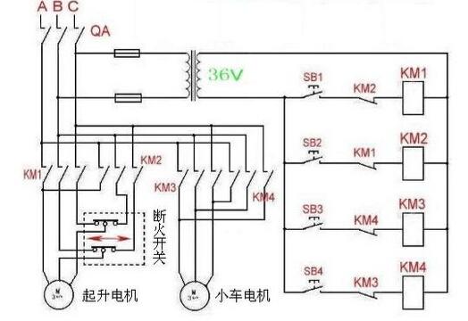 断火限位器工作原理_电动葫芦的断火限位器的工作原理及原理图-北京市凌鹰起重机械厂